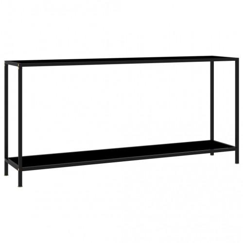 Dream Living Konsolbord svart 160x35x75 cm härdat glas