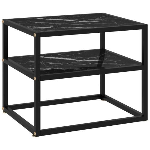 Dream Living Konsolbord svart 50x40x40 cm härdat glas