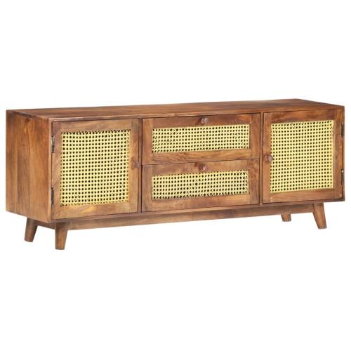 vidaXL TV-bänk 130x30x52 cm massivt mangoträ