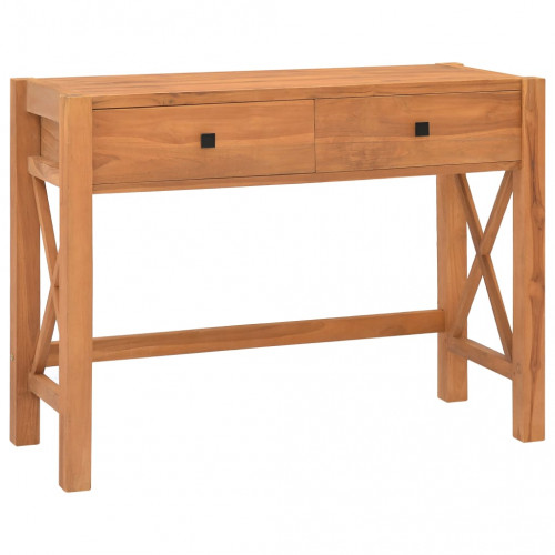 Dream Living Skrivbord med 2 lådor 100x40x75 cm återvunnen teak