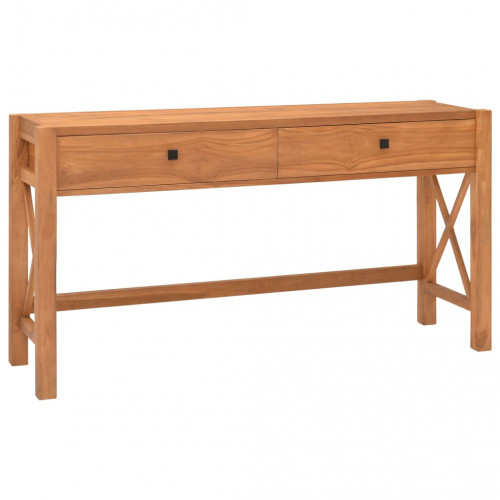 Dream Living Skrivbord med 2 lådor 140x40x75 cm återvunnen teak