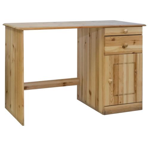 Dream Living Skrivbord med lådor 110x50x74 cm massiv furu