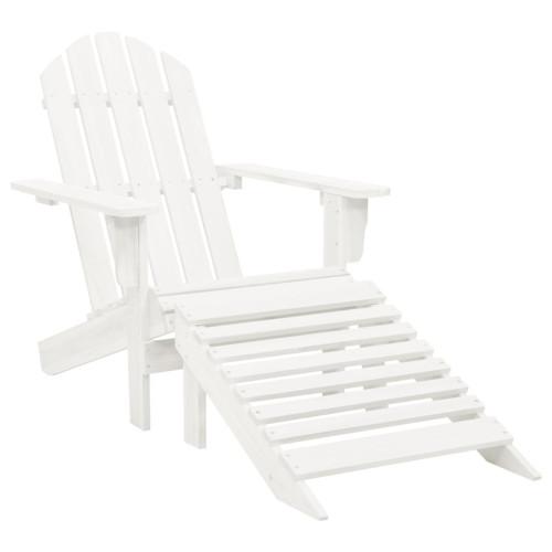 Dream Living Trädgårdsstol med ottoman trä vit