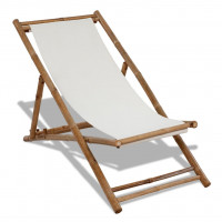 Dream Living Solstol bambu och kanvas