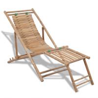 Dream Living Solstol med fotstöd bambu
