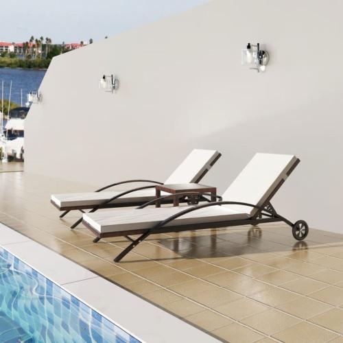Dream Living Solsängar med bord konstrotting brun