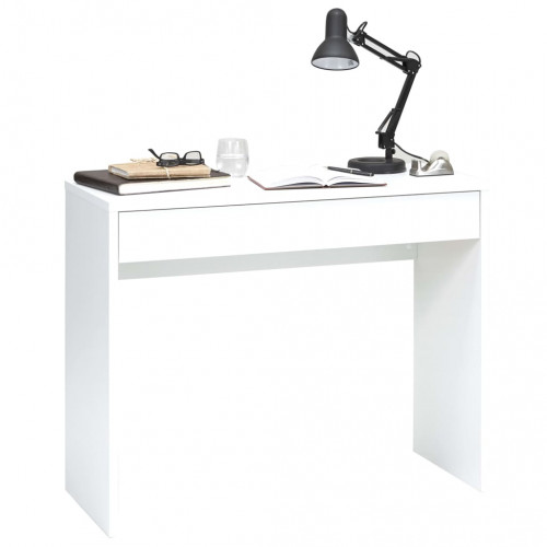 FMD FMD Skrivbord med bred låda 100x40x80 cm vit