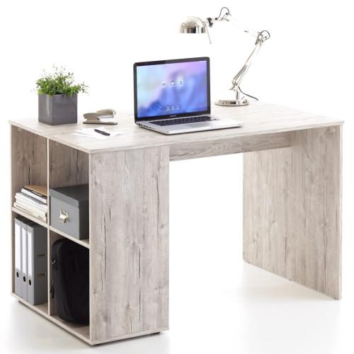 FMD FMD Skrivbord med sidohyllor 117x73x75 cm sandek