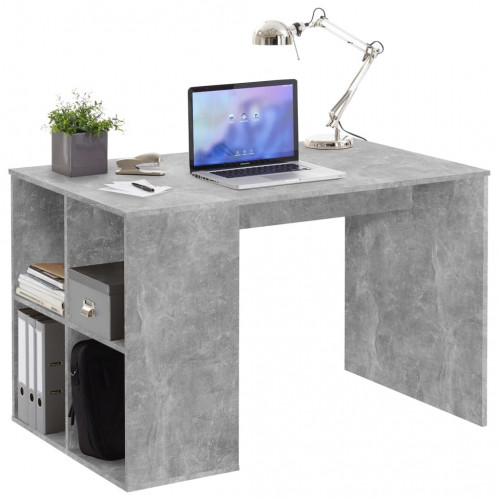 FMD FMD Skrivbord med sidohyllor 117x73x75 cm betong