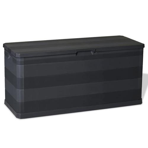 vidaXL Dynbox 117x45x56 cm svart