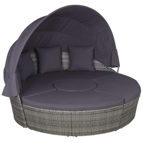 Dream Living Loungegrupp 4 delar med kuddar konstrotting grå