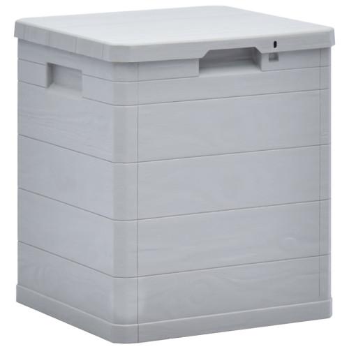 vidaXL Dynbox 90 liter ljusgrå