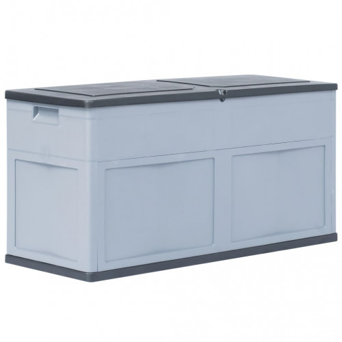 vidaXL Dynbox 320 liter grå svart