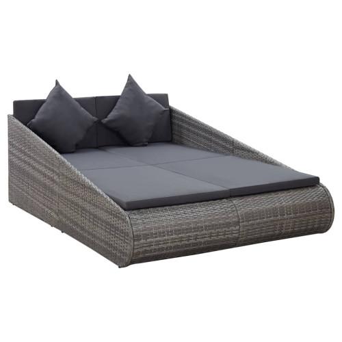 Dream Living Solsäng grå 200x139 cm konstrotting