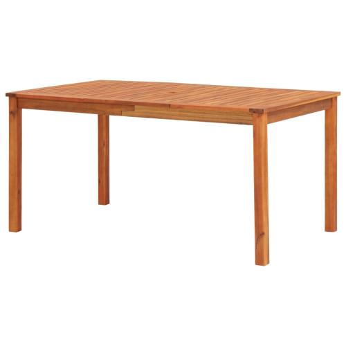 vidaXL Trädgårdsbord 150x90x74 cm massivt akaciaträ