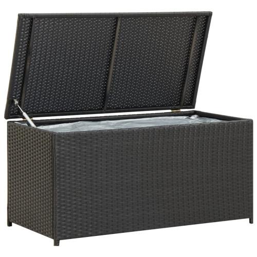 vidaXL Dynbox konstrotting 100x50x50 cm svart