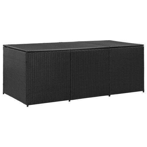 vidaXL Dynbox konstrotting 180x90x75 cm svart