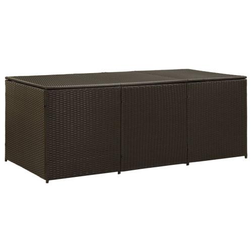 vidaXL Dynbox konstrotting 180x90x75 cm brun