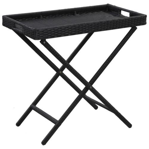 Dream Living Hopfällbart bord svart 80x45x75 cm konstrotting