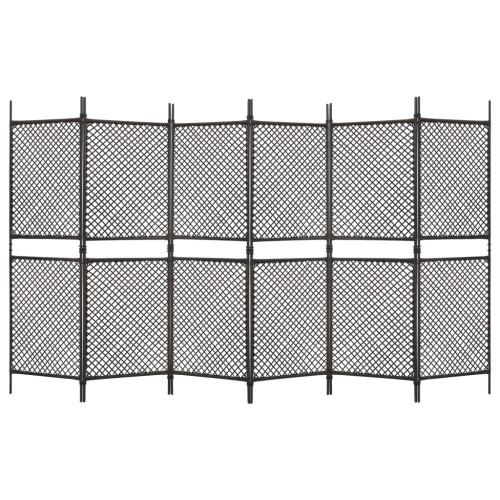 vidaXL Rumsavdelare 6 paneler konstrotting brun 360x200 cm