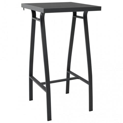 vidaXL Trädgårdsbord svart 60x60x110 cm härdat glas