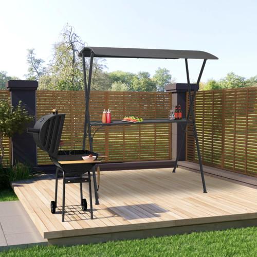 Dream Living Partybar med tak 175x150x207 cm antracit stål