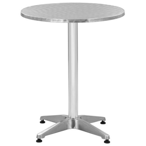 vidaXL Trädgårdsbord silver 60x70 cm aluminium