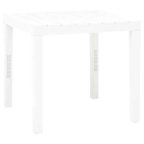 vidaXL Trädgårdsbord vit 78x78x72 cm plast