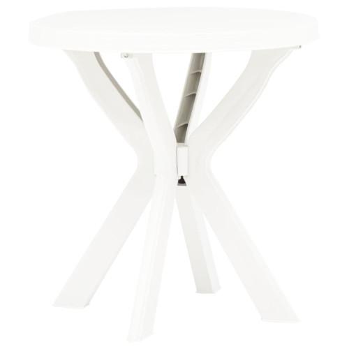 vidaXL Cafébord vit Ø70 cm plast