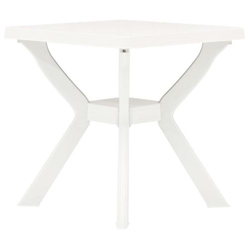 vidaXL Cafébord vit 70x70x72 cm plast
