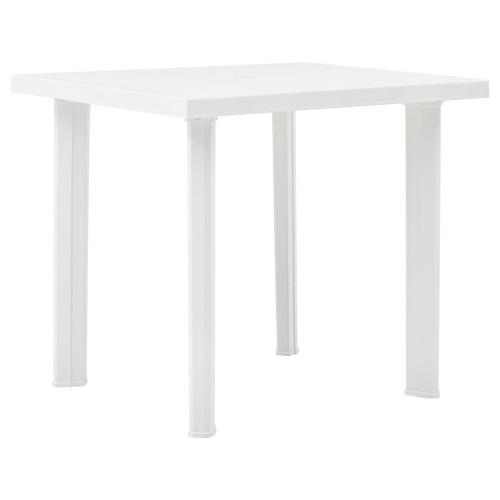vidaXL Trädgårdsbord vit 80x75x72 cm plast
