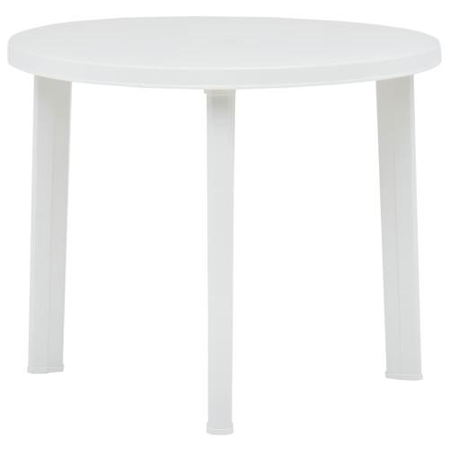 vidaXL Trädgårdsbord vit 89 cm plast