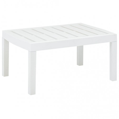 vidaXL Trädgårdsbord vit 78x55x38 cm plast
