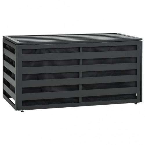 vidaXL Dynbox aluminium 100x50x50 cm antracit
