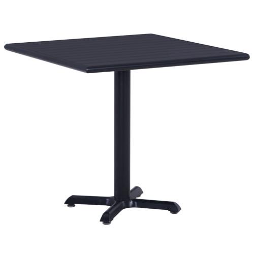 Dream Living Trädgårdsbord svart 80x80x75 cm