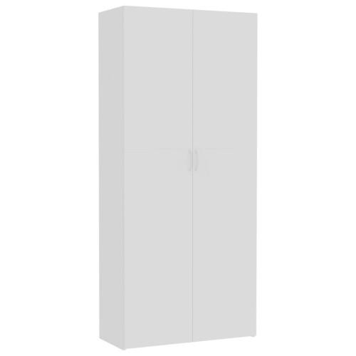 vidaXL Förvaringsskåp vit 80x35,5x180 cm spånskiva