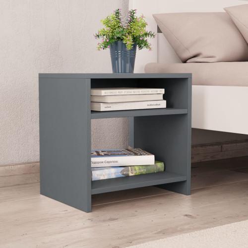 Dream Living Sängbord grå 40x30x40 cm spånskiva