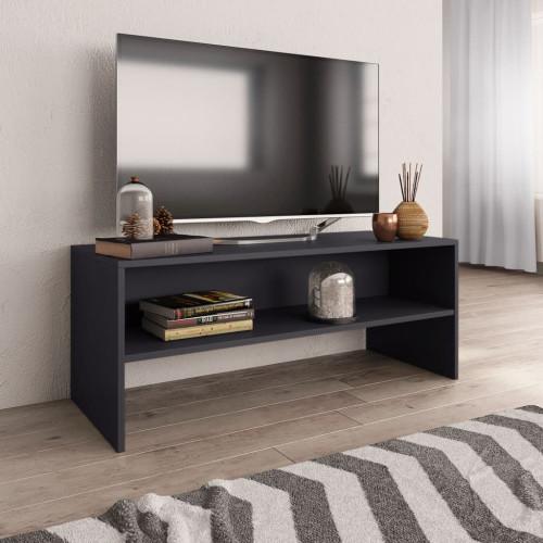 Dream Living TV-bänk grå 100x40x40 cm spånskiva