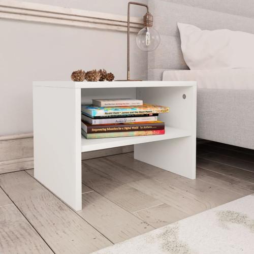 Dream Living Sängbord vit 40x30x30 cm spånskiva