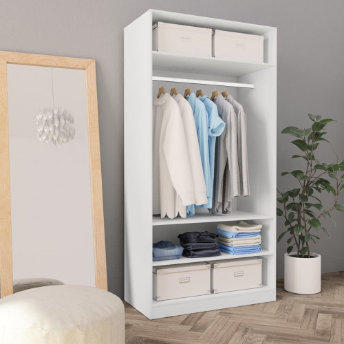 Dream Living Garderob vit 100x50x200 cm spånskiva