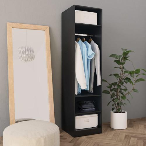 Dream Living Garderob svart 50x50x200 cm spånskiva