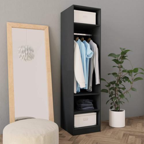 Dream Living Garderob grå 50x50x200 cm spånskiva