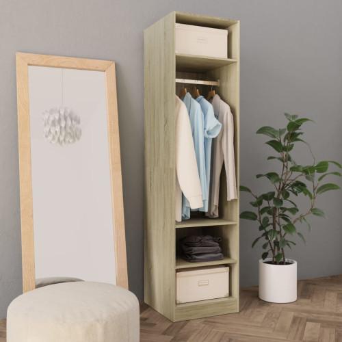 Dream Living Garderob sonoma-ek 50x50x200 cm spånskiva