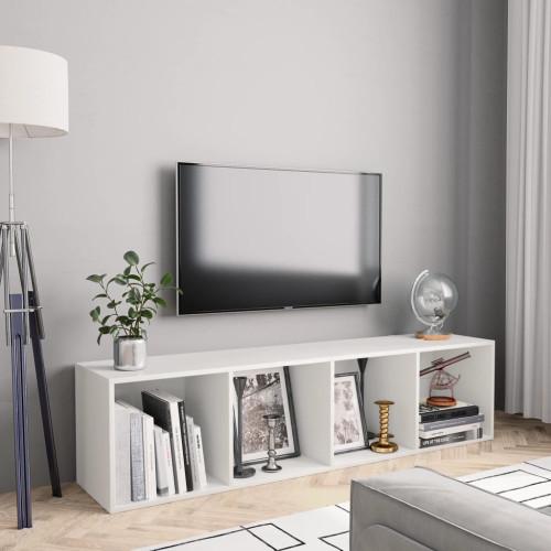 vidaXL Bokhylla/TV-bänk vit 143x30x36 cm