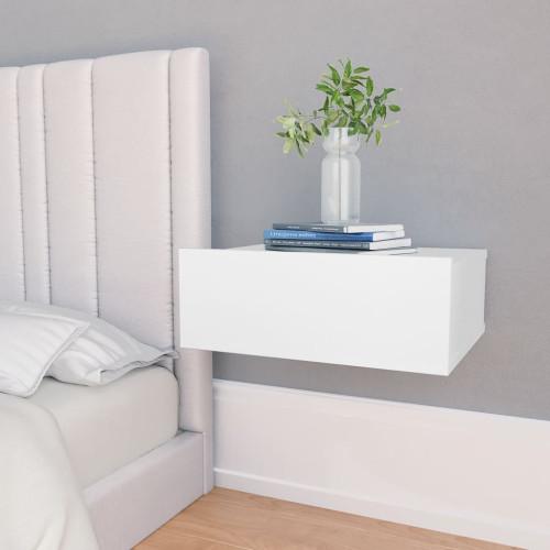 Dream Living Svävande sängbord vit 40x30x15 cm spånskiva