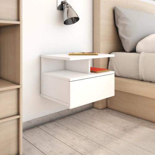 Dream Living Svävande sängbord vit 40x31x27 cm spånskiva