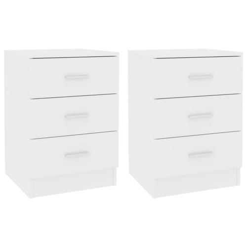 Dream Living Sängbord 2 st vit 38x35x56 cm spånskiva