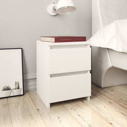Dream Living Sängbord 2 st vit 30x30x40 cm spånskiva