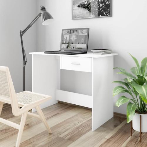 vidaXL Skrivbord vit 100x50x76 cm spånskiva