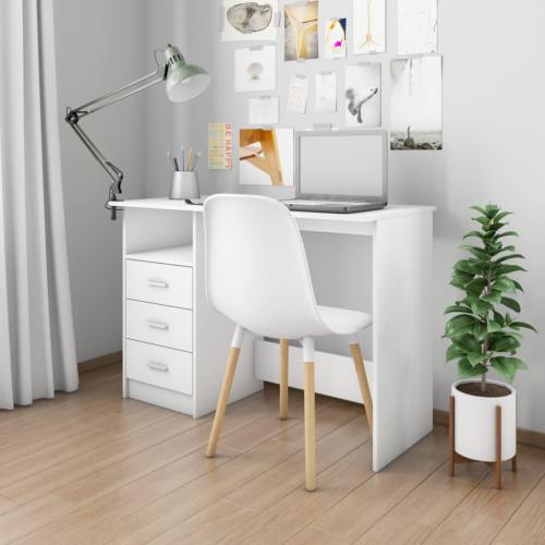 Dream Living Skrivbord med lådor vit 110x50x76 cm spånskiva